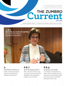 Front cover of The Zumbro Current - May 2018